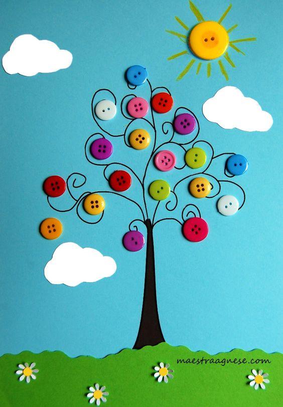 albero con bottoni