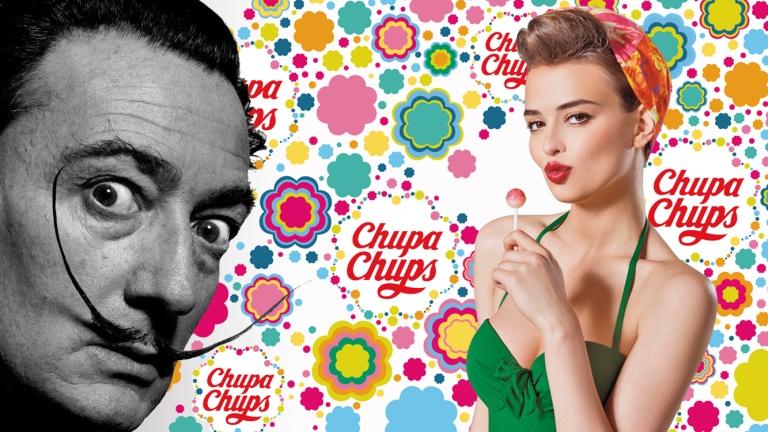 Salvador Dali e logo Chupa Chups